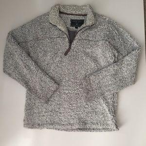 True Grit Frosty Tipped Sherpa Quarter Zip Sweater